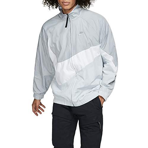 Nike Mens NSW Large Swoosh Windbreaker Woven Jacket AR3132-012 Size XS