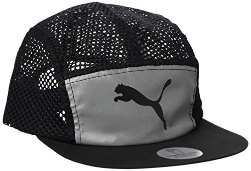 PUMA Herren Foldable Trail Cap Black Silver-Reflective, Adult
