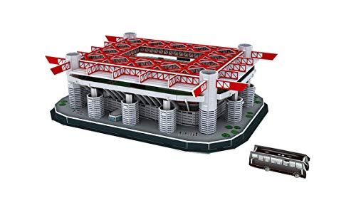 DIY 3D Puzzle Jigsaw World Football Stadium European Soccer Playground Assembled Building Model Puzzle Toys for Children Christmas birthday gift (Stadio San Siro (Italy)154PCS