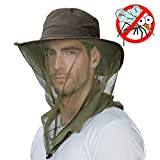 FancetAccessory Anti Mosquito Insect Bug Repellent Net Fly Fishing Hat Summer Sun UV