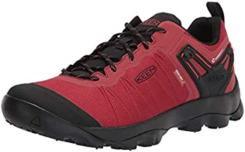KEEN Men's Venture Low Height Waterproof Hiking Shoe, Ketchup/Black, 11.5 D (Medium) US