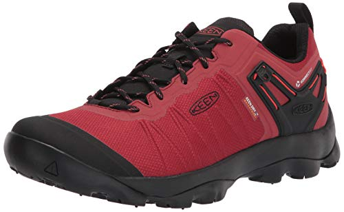 KEEN Venture WP-M, Zapatos para Senderismo Hombre, Ketchup Negro, 44 EU