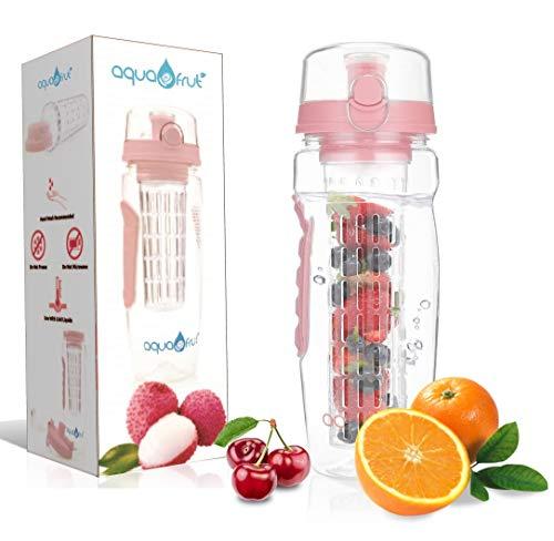 AquaFrut 32 OZ Fruit Infuser Water Bottle BPA-Free Fruit Infusion Sports Bottle -...