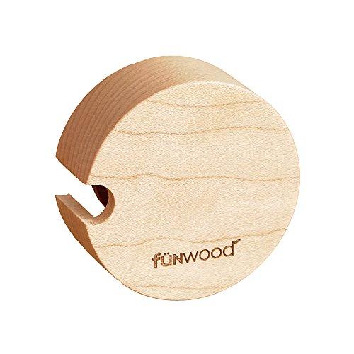 funwood(ファンウッド) マスキングテープホルダー マスキングテープケース 木製 天然木 角型 丸型 メープル サペリ mtホルダー おしゃれ文具 ナチュラル ウッド (メープル・丸形)
