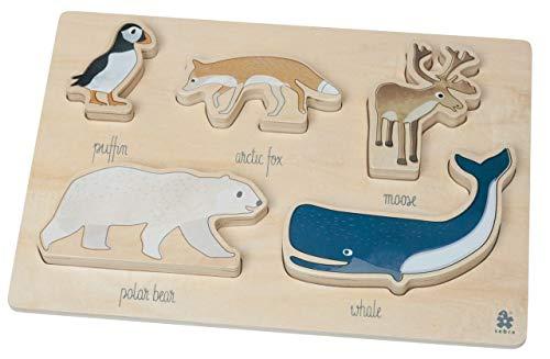Sebra Formensteckspiel aus Holz, Arctic Animals