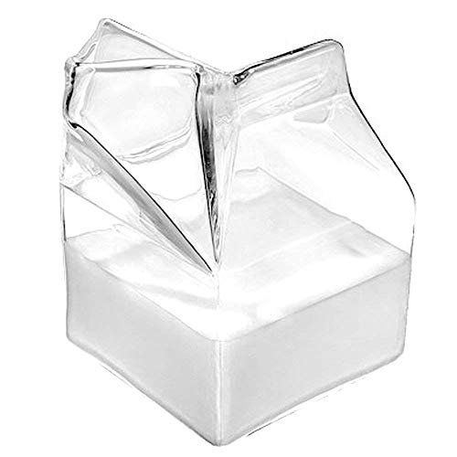 Glass Milk Carton, Clear Mini Creamer Container - Creamer Pitcher