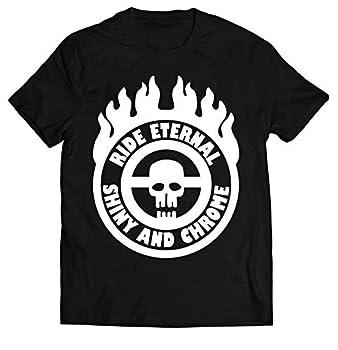 Grozinrel Men s MAD Max Fury Road Ride Eternal Shiny and Chrome Shirt Graphic Design T-Shirts M Black