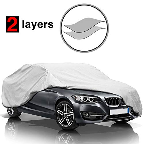 KAKIT Car Cover Waterproof All Weather, 2 Layers UV Protection Universal Sedan...