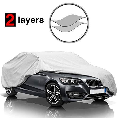 KAKIT Car Cover Waterproof All Weather, 2 Layers UV Protection Universal Sedan...