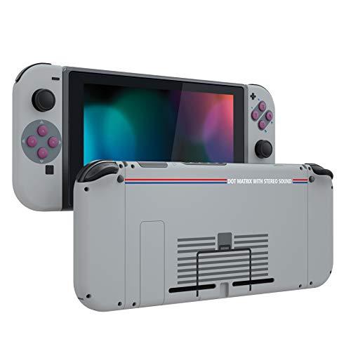 eXtremeRate Cover con Pulsanti per Nintendo Switch Joy-Con Console,Scocca Custodia JoyCon Case Controller Guscio DIY Tasti Colorati Ricambio per Nintendo Switch(Classic 1989 GB DMG-01)