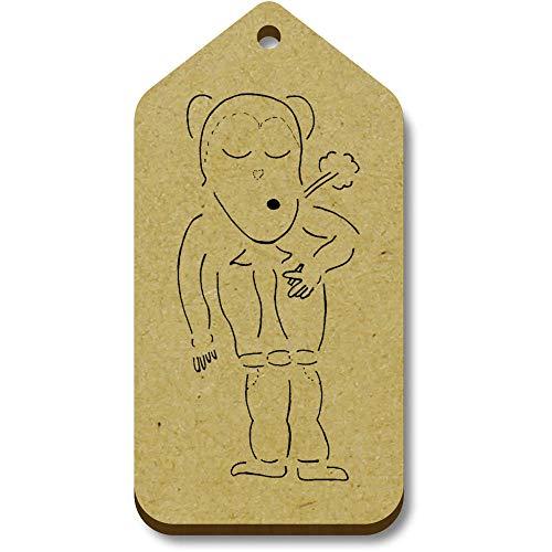 Azeeda 10 x 'Smoking Monkey' 66mm x 34mm Gift Tags (TG00093711)