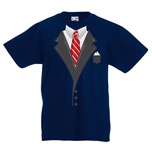 N4553K La Camiseta de los niños Look Like a Boss! (12-13 Years Azul Oscuro Multicolor)