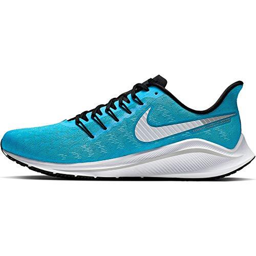 Nike Men's Air Zoom Vomero 14 Track & Field Shoes, Multicolour (Blue Lagoon/White/Black/Vast Grey 000), 7 UK