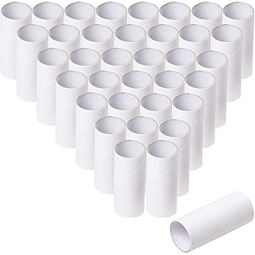 Genie Crafts Tubi di cartone – Confezione da 48 rotoli di carta, rotoli di carta igienica vuoti, rotoli di cartone, materiali per artigianato per progetti in classe, bianco, 4,6 x 1,6 x 9,9 cm