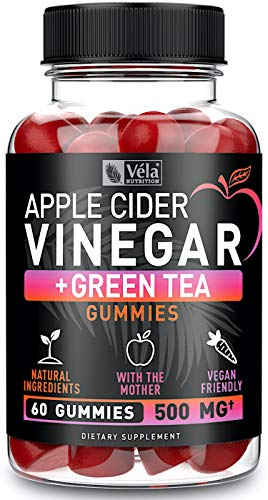 (15% OFF Coupon) Apple Cider Vinegar Weight Loss Gummies + Green Tea & B12 $12.73