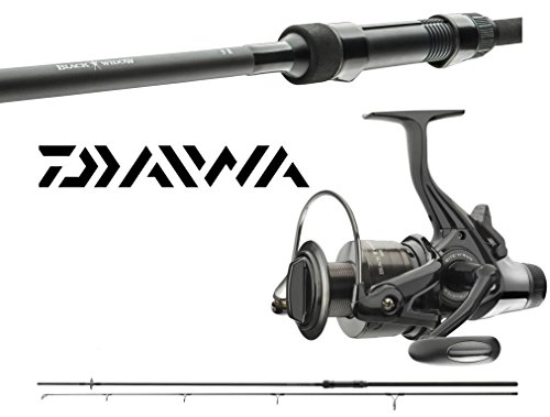 Daiwa Black Widow Karpfencombo 3,60m / 3,00lbs + Freilaufrolle Karpfenset