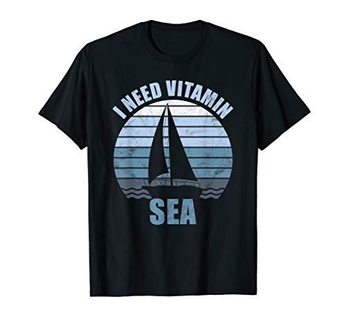 Kapitän T-Shirt Segeln Geschenk Segler Sprüche Meer T-Shirt