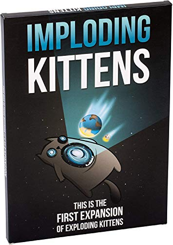 Imploding Kittens Expansion Set - A Russian Roulette Card Game, Easy Family-Friendly Party Games - Card Games for Adults, Teens & Kids - 20 Card Add-on