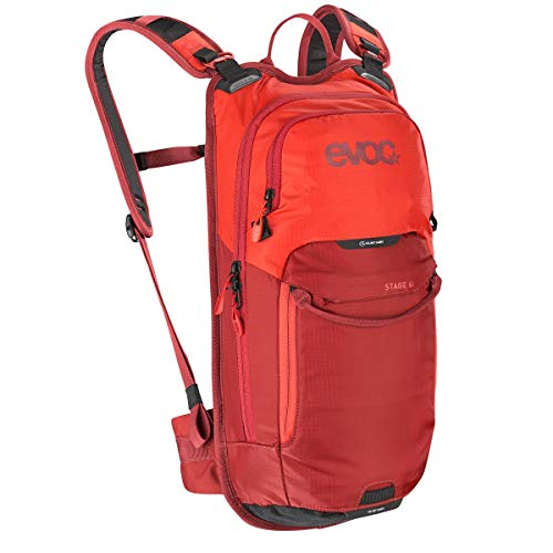 EVOC Stage 6 Technischer Tagesrucksack, Orange/Chili Rot, one