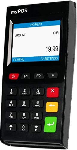 MyPOS Go 3g Máquina de pago de tarjeta de crédito móvil inalámbrica para pequeñas empresas | Acepta tiras magnéticas, chip y pin y pagos NFC sin contacto | Bluetooth 4.0, Wi-Fi, tarjeta SIM 3g gratis