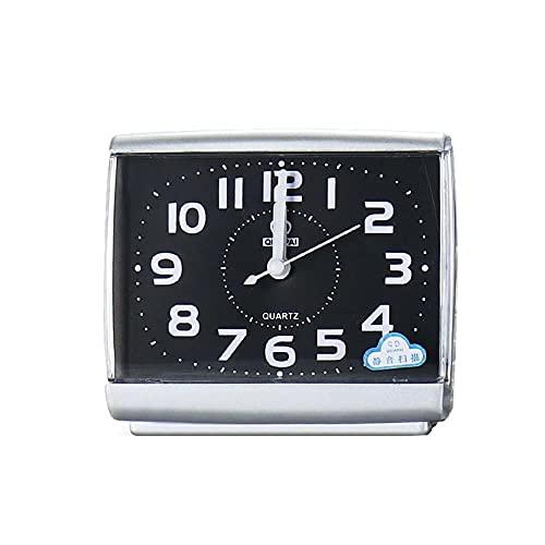Reloj despertador silencioso 5 minutos despertar reloj silencioso exploración estudiante despertar reloj dormitorio escritorio decoración del hogar regalo simple