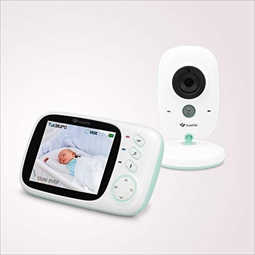 """Video Babyphone TrueLife NannyCam H32,Überwachung Digital Video-Kamera für Ihr Baby,farbiges 3,2"""" LCD-Display,Zimmerthermometer, Nacht-Modus,8 Melodien,VOX-Regime,Akkus 24Stunden, drathlos Kamera"""