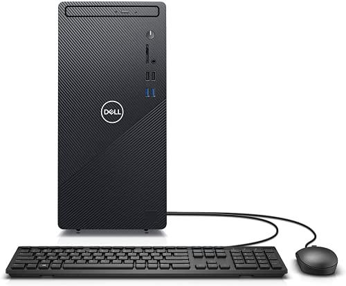 2021 Newest Dell Inspiron 3880 Desktop PC, Intel Core i3-10100 Processor, WiFi, Bluetooth, HDMI, DVD-RW, Wired Keyboard & Mouse, Win 10 Home, Black (8GB RAM | 1TB HDD)
