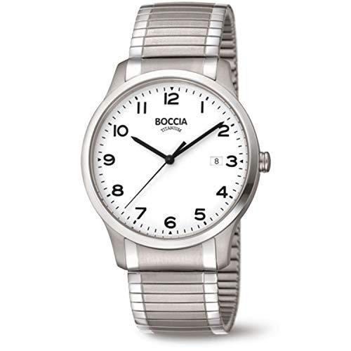 Boccia Herren Analog Quarz Uhr mit Titan Armband 3616-01