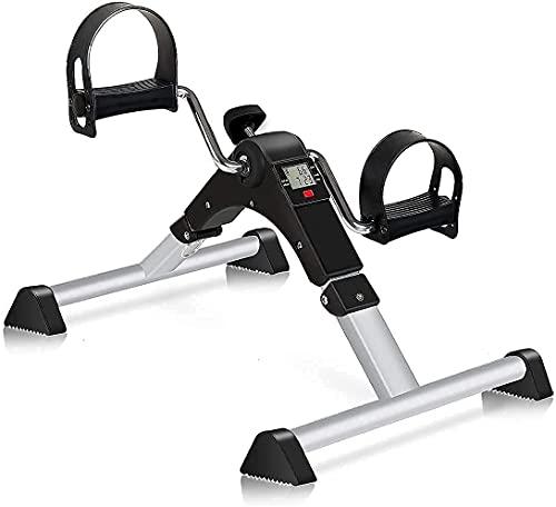 GOREDI Pedal Exerciser Stationary Under Desk Mini Exercise Bike - Peddler Exerciser with LCD Display, Foot Pedal Exerciser for Seniors,Arm/Leg Exercise (White)