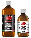 NINDO Kit Base Neutra 1 Litro 50VG/50PG | Glicerina Vegetale (99,98%) + Glicole Propilenico (99,7%) | 100% Made in Italy | Privo di OGM e Allergeni | Grado Farmaceutico Certificato