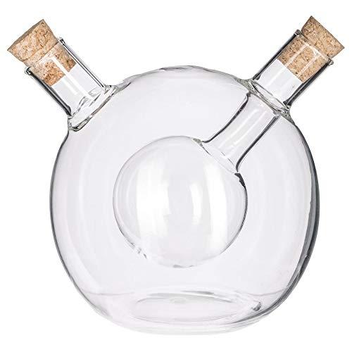 Secret De Gourmet Öl & Essig Spender   Ölflasche mit Ausgießer   Flaschen zum Befüllen   Essig Öl Set   Glas Aufbewahrung   2in1   Essigspender   Ölspender   Glasflasche Spenderflasche   Olivenöl