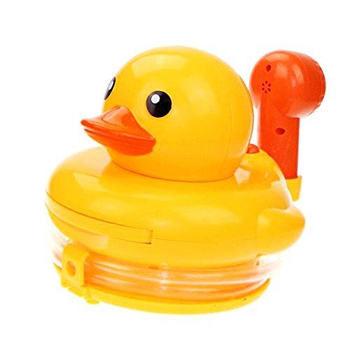 MagiDeal Jouets de Bain Canard Duck en Plastique Douchette Jeux d'eau Amusant(18*18*16cm)