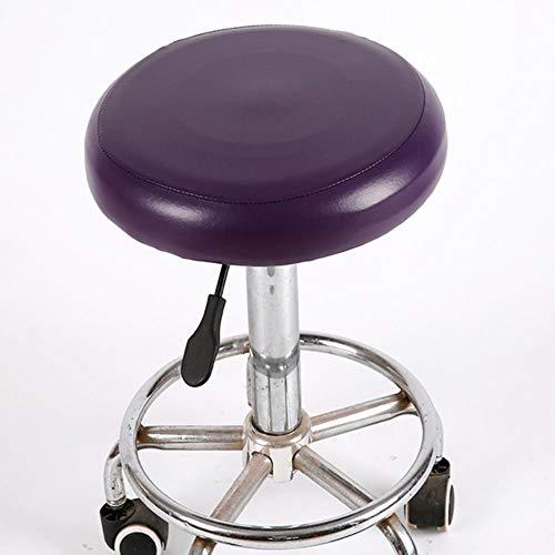 Elastic Bar Stool Slipcover Round Chair Seat Covers Waterproof Cushion Sleeve-rple