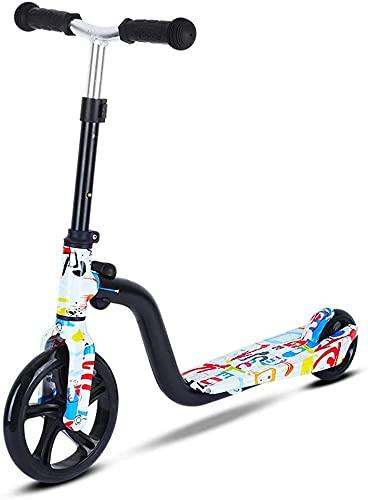 EIIDJFF Scooter Patinete para Niños Patinetes de Ruedas Grandes Patinetes Plegables para niños pequeños de 3 a 8 años con Altura Ajustable Patinetes Ligeros 615(Color:A)