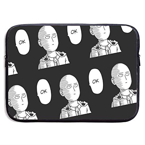 Anime Boys Ok One Punch Man Saitama Bolsa de Manga para computadora portátil Funda para computadora Tableta maletí Protector 13 Pulgadas