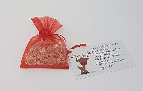 Other MAGIC BAG OF SPRINKLE REINDEER FOOD OATS DUST CHRISTMAS EVE SANTA FUN ACTIVITY (Rudolph Red)