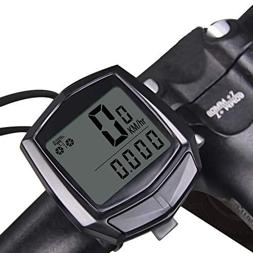 Rsoamy Fahrrad Computer,Wired Tacho Fahrrad,Kabel Code Tabelle Tachometer Fahrradfahren Zubehör Sport Timer Kilometerzähler Tachometer