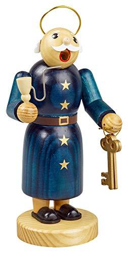yanka-style Räuchermännchen Räuchermann Räucherfigur Rauchfigur Petrus ca. 22 cm hoch aus Holz Weihnachten Advent Geschenk Dekoration (30611-22)