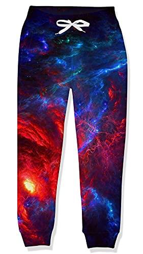 Goodstoworld Mädchen Jogginghose Kiner Jungen Trainingshose Galaxis Elasticated Cuff Hose 3D Sporthose Lässige Track Pant 12-13 Jahre