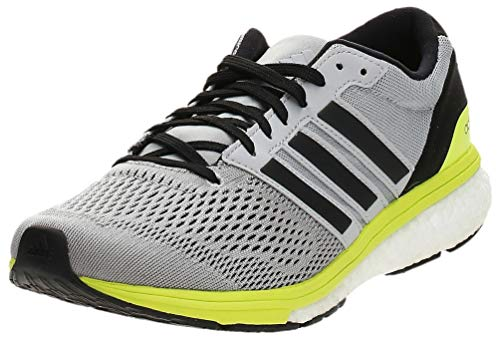 adidas Women's Adizero Boston 6 Competition Running Shoes, Grey (Grey Two/core Black/Solar Yellow), 4.5 UK