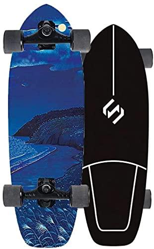 Tarver Skateboard Tablero Completo Skateboard Kids Surfskate para bombear Cruisen Carven y para turnos de Surf Turning Turn Turns Montando la Carretera y navegando en el Asfalto Longboard 29
