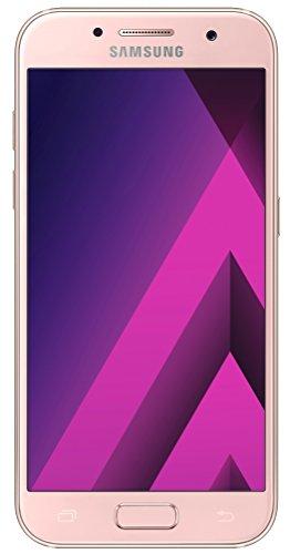 Samsung Galaxy A3 (2017) Smartphone (12,04 cm (4,7 Zoll) Touch-Bildschirm, 16 GB Speicher, Android 6.0) peach-cloud