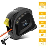 Uarter Telemetro Laser, Medidor láser digital 40M,Cinta métrica 5M,Telémetro láser portátil recargable USB con pantalla LCD