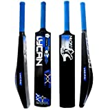 Lycan Hard Plastic Cricket Bat for 15+ Age Suitable with Tennis Ball, Wind Ball, plastic, Multicolour