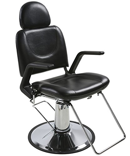 BR Beauty Sue All Purpose Hydraulic Reclining Styling Chair for Professional Hair Salons & Barbers, Heavy Duty Chrome Base, 26 Inches High, 24.5 Inches Wide, 20 Inches Deep, SY-6769AP