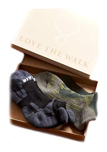 ALLES MOOI MOHAIR Socks, MEN'S MAVERICK Gift Pack, Blister-resist, Breathable, Moisture Wicking, Thermal Regulation High Natural Fiber Content. (1x BREEZER 1X TRACKER)