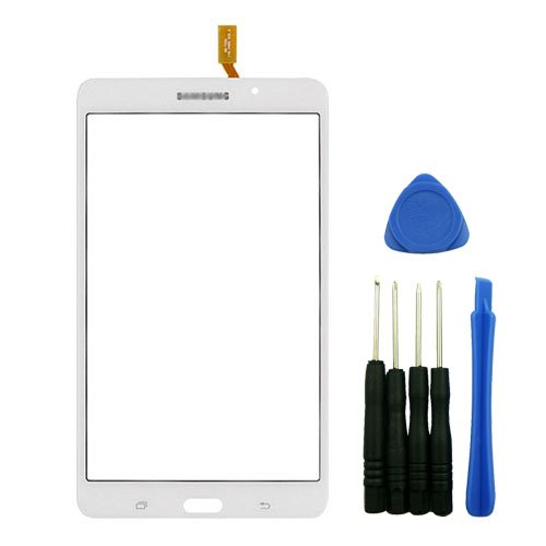White Outer Glass Digitizer Touch Screen Panel Replacement for Samsung Galaxy Tab 4 7.0 T230 WiFi Version with Tools