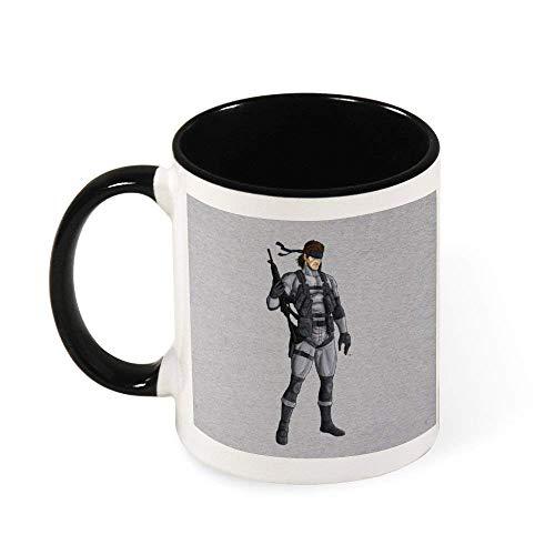 IUBBKI Metal Gear Solid 2 taza de café de cerámica con forma de serpiente, regalo para mujeres, niñas, esposa, mamá, abuela, 11 oz