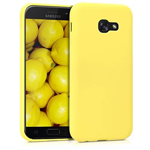 kwmobile Funda Compatible con Samsung Galaxy A5 (2017) - Funda Carcasa de TPU Silicona - Protector Trasero en Amarillo Pastel Mate