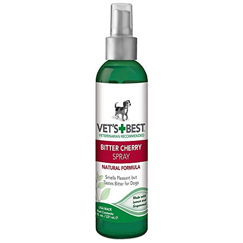Vet's Best Sin Chew Diterrent, Spray de Cereza Amargo para Dgos 1 Unidad 221 ml